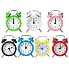 Portable Retro Alarm Clock Bell Round Table Desk Home LED Clock GEMS 33