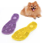 AM_ Pet Dog Slipper Shape Molar Bite-resistant Training Interactive Chew Toy Bus