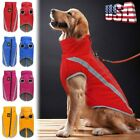 Waterproof Warm Winter Dog Coat Clothes Dog Padded Fleece Pet Vest Jacket #USA
