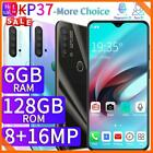 6.3inch P37 6gb+128gb Mobile Smart Phone Face Id Unlocked Dual Sim Android 9.1