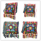 Retro Embroidery Boho Tote Messenger Ethnic Tassel Shoulder Bag Hippie Crossbody image