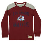 Reebok NHL Youth Colorado Avalanche Long Sleeve Birthright Crew, Maroon $9.99 USD on eBay