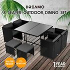 【20%OFF $503.2+】9PC Outdoor Dining Furniture Set Wicker Garden Table & Chairs