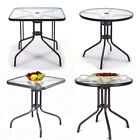 Waterproof Side Table Tempered Glass Outdoor table Poolside or Garden Cooperate