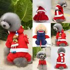 XMAS Pet Dog Cat Happy New Year Clothes Puppy Warm Jumper Costume Outfit Vest