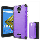 For Cricket Icon Case / AT&T Radiant Core Case Brush Dual-Layered Cover
