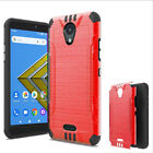 For ANS Wiko Ride Case (Boost Mobile) Brush Dual-Layered Cover