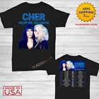 Cher t Shirt Here We Go Again Tour Dates 2020 T-Shirt Size M-2XL Men Black image