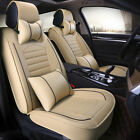 5-Seats SUV PU Leather Car Full Set Seat Cover Front&Rear w/ Pillows Cushions US