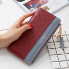 Women Ladies Leather Wallet Long Zip Purse Card Phone Holder Case Clutch Hand Q