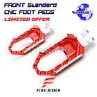 For Sprint ST 2005-2013 GT 2010-2013 Anti-slip Tooth CNC Front Wide Footpegs $50.24 USD on eBay