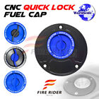 FRW BK/BU CNC Quick Lock Fuel Cap For Ducati SuperSport 750 / 800 / 900 All Year