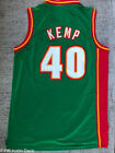 #40 Shawn Kemp Seattle Supersonics MEN'S Vintage Green Throwback Jersey