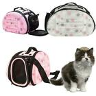 Small Dog Pet Carry Shoulder Bag Carrier Comfort Cat Puppy Travel Gray/Pink