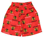 OuterStuff NHL Boys Kids Chicago Blackhawks All-Over Printed Pajama Shorts, Red $9.99 USD on eBay