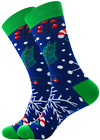 Mens Christmas Socks Novelty Ankle Stocking Filler Xmas Gift Winter Warm US