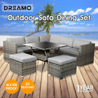 8 Seater Outdoor Dining Furniture Set Wicker Table Chairs Garden