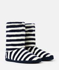 Joules Women's Homestead Slippers Socks Colour French Navy Stripe