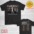 Maroon 5 Shirt North American tour dates 2019-2020 T-Shirt Size M-2XL Men Black image