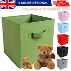 Foldable Canvas Storage Baskets Fabric Cube Collapsible Folding Box Organizer, used for sale  Walsall