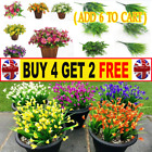Plastic Outdoor Artificial Flowers Fake False Plants Grass Garden Lily Tulip -hh