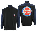 FISLL NBA Basketball Mens Detroit Pistons Colorblock 3/4 Zip Pullover Sweatshirt on eBay