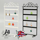 1x Jewelry Earring Hanging Display Rack Organizer Metal Stand Holder 48 Holes