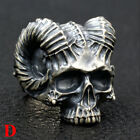 Stainless Steel Gothic Skull Rings Head Boy Biker Punk Mens Finger Jewelry