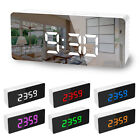Alarm Clock Large Digital LED Display USB/Battery Temperature Calendar Bedroom