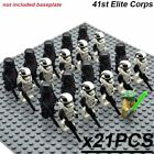 21pcs Star Wars Military Clone Army Minifigures Darth Vader Yoda Jedi