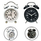 Silent Analog Mini Retro Classic Extra Loud Twin Bell Alarm Clock For Bedroom