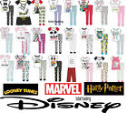 Womens Ladies Official Disney Pyjama Set Pjs Pajamas Nightwear Loungewear new