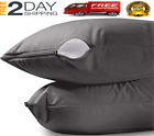 2 Pillow Protector Cover Case Waterproof 20x36 Zippered Terry Cotton King Size image