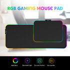 RGB Soft Gaming Mouse Pad Glowing MousePad Anti-Slip Rubber W/ Locking Edge J7Z6