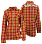 Forever Collectibles NFL Women's San Francisco 49ers Check Flannel Shirt $34.99 USD on eBay