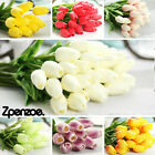 1-50pcs Artificial False Tulip Flower White Silk Fake Bouquet Home Wedding Decor