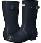 HUNTER ORIGINAL WOMEN'S TALL GLOSS RAIN BOOT-NAVY or BLACK