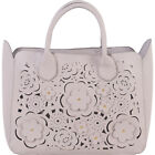 BUCO Flower Away Tote 2 Colors Leather Handbag NEW