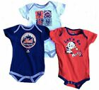 Majestic MLB Infant New York Mets Go Team! Three Pack Creeper Set on Ebay
