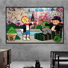 """Alec Monopoly """"Beverly Hills Hotel Neon"""" Oil Painting Art Fabric HD Print Poster"""