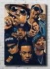 New The Notorious 2PAC Tupac JAY-Z N.W.A Smoking Rap Collage 24x36 Poster 1151
