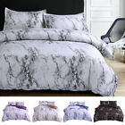 3 Pieces Set Comforter / Duvet Cover Quilt Marble Printed Microfiber Queen King image