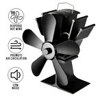 AM_ 5Blade Fireplace Heat Powered Stove Fan Silent Winter Wood Log Burning Stove