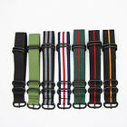 Wholesale 20MM Nylon Strap Black Heavy Duty 5 Ring Buckle Men Women Watch Bands image
