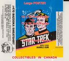 "STAR TREK 1976 Spock KIRK Enterprise = POSTER Wax Pack Wrapper 2 SIZES 18"" - 19"" on eBay"