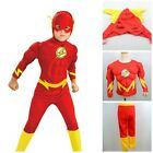 Flash Muscle Chest Outfit Fancy Dress Cosplay Costume Superheroes Kids gifts @@