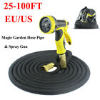 Retractable Expandable Spray Gun 25-100FT Magic Garden Hose Pipe Extra Long