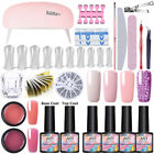 21Pcs/Set MAD DOLL Building UV Gel Polish Nail Dryer LED Lamp Brush File DIY Kit