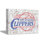 LOS ANGELES CLIPPERS NBA Team Logo on Brick Wall Home Art Decor CANVAS POSTER on eBay