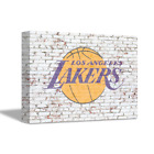 LOS ANGELES LAKERS NBA Team Logo on Brick Wall Home Art Decor CANVAS POSTER on Ebay